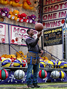 Basketballs Photo Prints - Hoop Shots Print by Rory Sagner