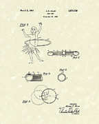 Hoop Drawings Prints - Hoop Toy 1963 Patent Art Print by Prior Art Design
