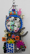 Whimsical Sculpture  Sculpture Framed Prints - Hoorah For Everything Framed Print by Keri Joy Colestock
