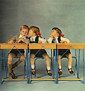 Nineteen Sixties Prints - Hoover 1963 1960s Uk Schools Children Print by The Advertising Archives