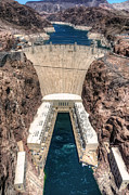 Hoover Posters - Hoover Dam From Above Poster by Eddie Yerkish