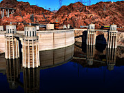 Nancie Martin Demellia Art - Hoover Dam reflection by Nancie Martin DeMellia