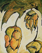 Hops Painting Framed Prints - Hop Harvest Framed Print by Alexandra Ortiz de Fargher