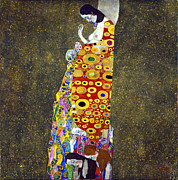 Klimt Digital Art Prints - Hope 2 Print by Gustive Klimt