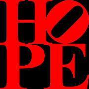 Empowerment Prints - Hope 20130710 Red Black Print by Wingsdomain Art and Photography