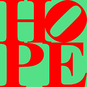 Positive Thinking Art - Hope 20130710 Red Green by Wingsdomain Art and Photography