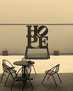 Indiana Scenes Posters - HOPE and CHAIRS in SEPIA Poster by Rob Hans