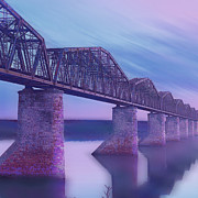 Bridge Mixed Media Prints - Hope Bridge Soft Print by Tony Rubino