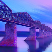 Bridge Mixed Media Prints - Hope Bridge Print by Tony Rubino