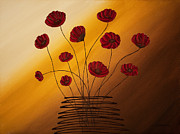 Floral Art Metal Prints - Hope Catcher Metal Print by Carmen Guedez
