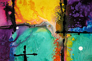 Purple Artwork Mixed Media Posters - Hope - Colorful Abstract Art By Sharon Cummings Poster by Sharon Cummings