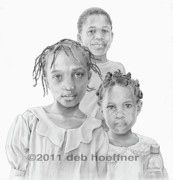 Haiti Drawings - Hope in Haiti by Deb Hoeffner