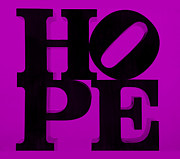Indiana Scenes Posters - HOPE in PURPLE Poster by Rob Hans