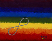 Chakra Rainbow Painting Prints - Hope Print by Pat Heydlauff