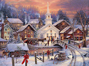 Christmas Village Posters - Hope Runs Deep Poster by Chuck Pinson