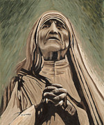 Mother Teresa Paintings - Hope by Sherryl Lapping