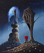 Nightmares Paintings - Hope Still Lives Here by Shawna Erback by Shawna Erback
