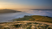 Temperature Inversion Photo Prints - Hope Valley Autumn Mist Print by Steve Tucker