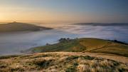 Hope Valley Autumn Mist Print by Steve Tucker