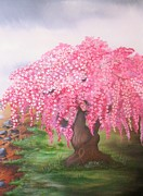 Cherry Blossoms Painting Metal Prints - Hope Metal Print by Valorie Cross
