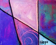 Female Art Mixed Media Print Mixed Media Posters - Hope Poster by Venus