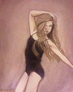 Young Lady Mixed Media Prints - Hope You Dance Print by Christy Brammer