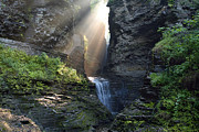 Hopeful Rays Spotlight Minnehaha Falls Print by Gene Walls