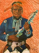 Turquoises Framed Prints - Hopi Chief Framed Print by Tim Prock