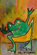 Modesto Paintings - Hopping Frog by James  Christiansen