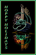 Holiday Cacti Posters - Hoppy Holidays Poster by Nikolyn McDonald