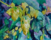 Hops Painting Framed Prints - Hops Framed Print by Beverley Harper Tinsley
