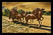 Hores Framed Prints - Hores and Wagon Framed Print by Blake Richards