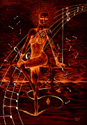 Dancer Mixed Media - Horizon Of Fire by Kenneth Clarke
