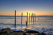 Jerseyshore Photo Originals - Horizon Sunburst by Michael Ver Sprill