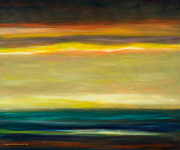 Sunsets Original Paintings - Horizons by Gina De Gorna