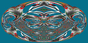 Colin Hogan Acrylic Prints - Horizontal Symmetry On Blue - ref 0247 Acrylic Print by Colin Hogan