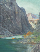 Canyon Paintings - Horn Creek Rapid  by Steve King