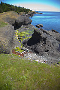 Hornby Island Photos - Hornby conglomerate Rock by Graham Foulkes