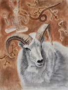 Cauldron Paintings - Horned Gods by Diana Perfect