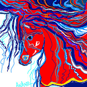Stories Digital Art Digital Art Metal Prints - Horse-1 Metal Print by Anand Swaroop Manchiraju