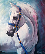 Oil On Canvas Drawings - Horse 2 by Slaveika Aladjova