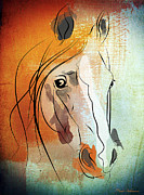 Geek Prints - Horse 3 Print by Mark Ashkenazi