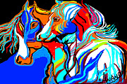 Stories Digital Art Digital Art Metal Prints - Horse-6 Metal Print by Anand Swaroop Manchiraju