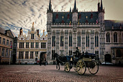 Medieval City Photos - Horse and Carriage by Joan Carroll