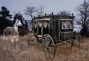 Ghostly Prints - Horse and Carriage Print by Tom Straub