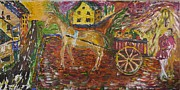 Horse And Cart Paintings - Horse and cart by Dozel Lake
