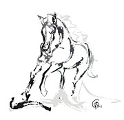 Horse- Andalusian Angel Print by Go Van Kampen