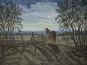 Andries Hartholt - Horse by moonlight