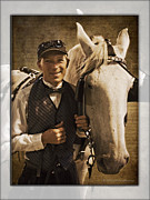 Carriage Driver Digital Art Posters - Horse Carriage Driver 2 Poster by Walter Herrit