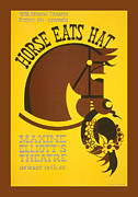 United States Travel Bureau Prints - Horse Eats Hat Print by Unknown